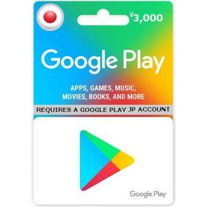 GOOGLE PLAY GIFT CARD (3000 YEN)