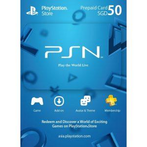 PSN CARD 50 SGD | PLAYSTATION NETWORK (SG Account)