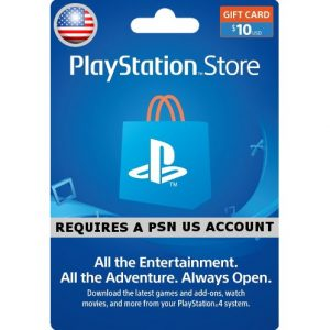 PSN CARD 10USD | PLAYSTATION NETWORK (US Account)