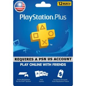 PSN CARD 12 MONTH | PLAYSTATION PLUS (US Account)