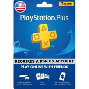 PSN CARD 3 MONTH | PLAYSTATION PLUS (US Account)