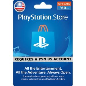 PSN CARD 60USD | PLAYSTATION NETWORK (US Account)