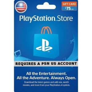 PSN CARD 75USD | PLAYSTATION NETWORK (US Account)