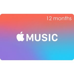 Apple Music Gift Cards (12 Month Membership / for US accounts only)