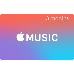 Apple Music Gift Cards (3 Month Membership / for US accounts only)