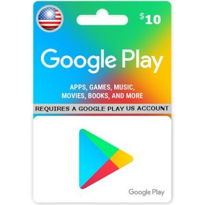 GOOGLE PLAY CARD (USD 10 / for US accounts only)