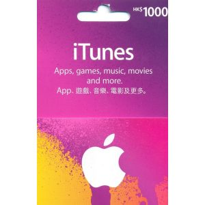 iTunes Card (HKD 1000 / for HK accounts only)