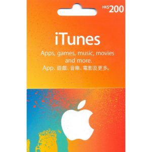 iTunes Card (HKD 200 / for HK accounts only)