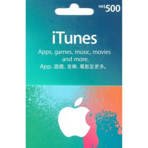 iTunes Card (HKD 500 / for HK accounts only)