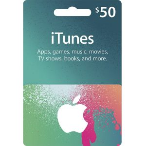 iTunes Card (USD 50 / for US accounts only) (Copy)