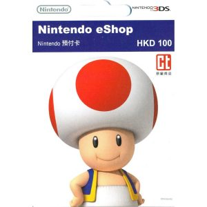 Nintendo eShop Card 100 HKD | HK Account