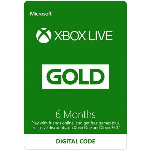 XBOX LIVE GOLD 6 MONTH Membership GLOBAL
