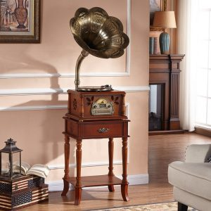 Classic Wooden, Vinyl record player, Gramophone, Phonograph