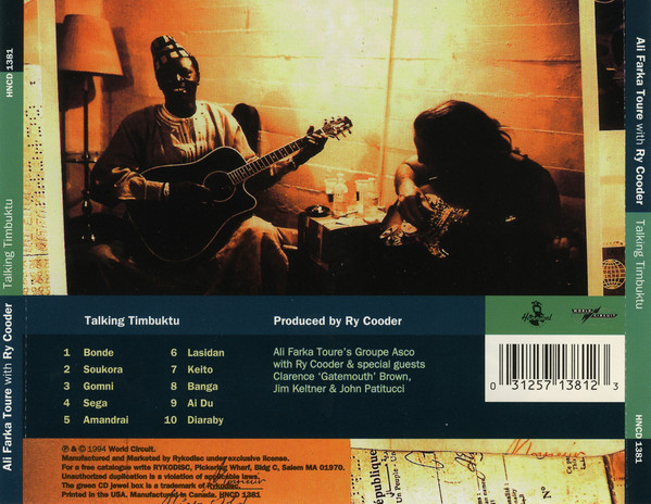 Ali Farka Touré With Ry Cooder - Talking Timbuktu track list