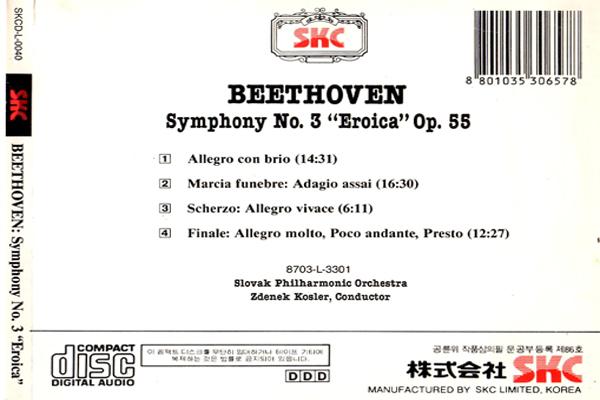 Beethoven Symphony 3 Eroica back