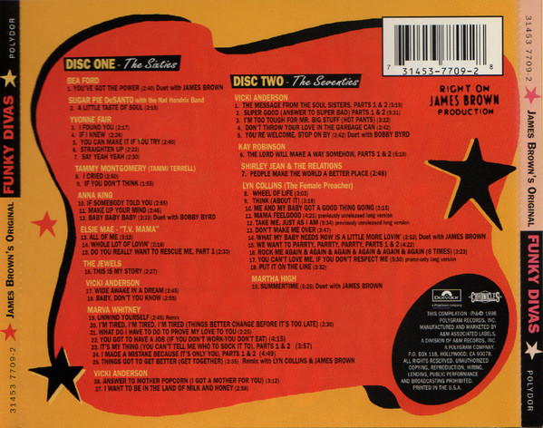 James Brown's Original Funky Divas track list
