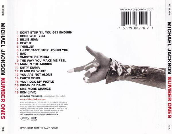 Michael Jackson - Number Ones track list