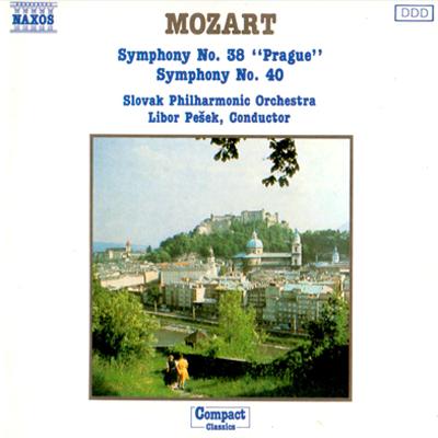 Mozart, Slovak Philharmonic Orchestra, Libor Pešek – Symphonies Nos. 38 & 40