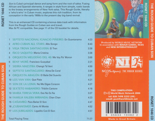 The Rough Guide To Cuban Son, VA track list