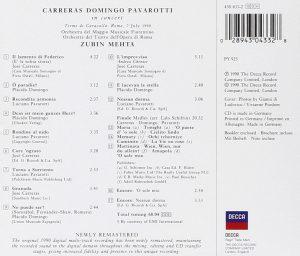 Carreras · Domingo · Pavarotti: The Three Tenors in Concert / Mehta